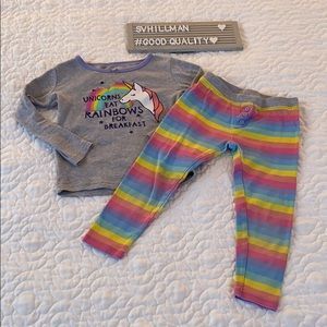 Osh Kosh Unicorn/Rainbow Pajamas